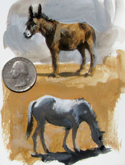 Donkey and Horse by James Gurney