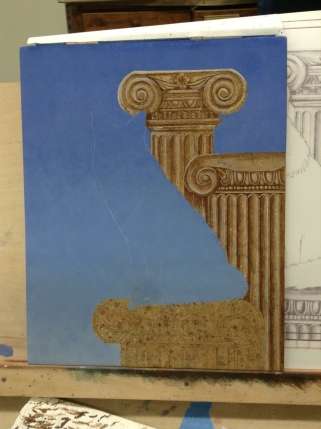 Working on detail of columns
