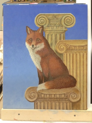More work on the fox with many new layers added